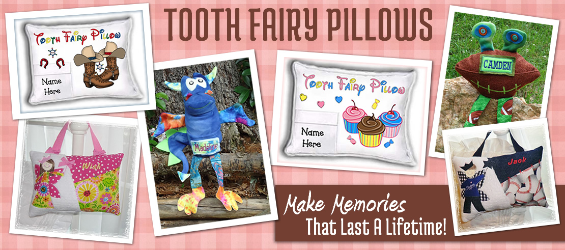 Personalized Tooth Fairy Pillows for Boys, Girls Toothfairy Pillows