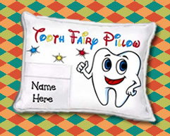 IMPRINTED TOOTH FAIRY PILLOWS